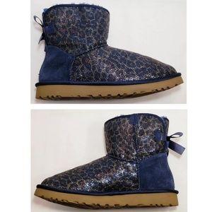 UGG Shoes - Rare! UGG Boots, Glitter Blue Leopard, Size 7